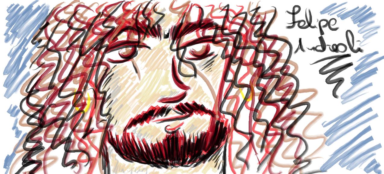 meu quinto desenho: Felipe Andreoli… ou quase!